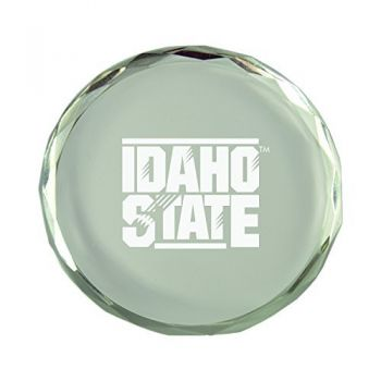 Idaho State University-Crystal Paper Weight
