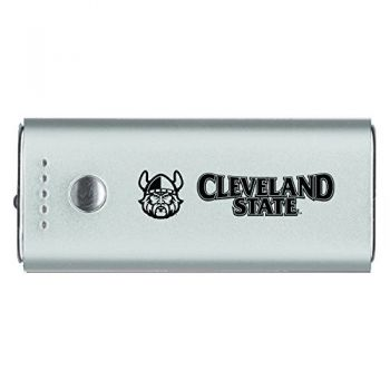 Cleveland State University -Portable Cell Phone 5200 mAh Power Bank Charger -Silver
