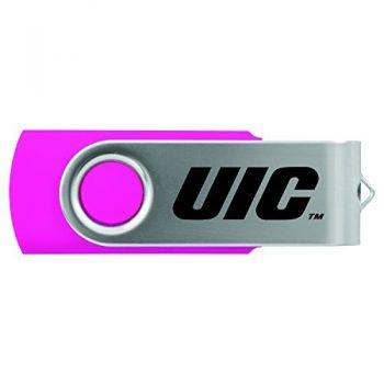 University of Illinois at Chicago-8GB 2.0 USB Flash Drive-Pink