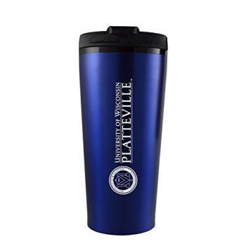 University of Wisconsin-Platteville-16 oz. Travel Mug Tumbler-Blue