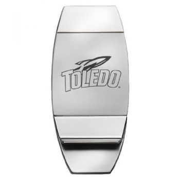 University of Toledo - Two-Toned Money Clip - Silver