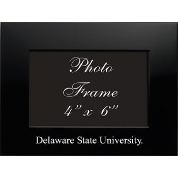 Delaware State University - 4x6 Brushed Metal Picture Frame - Black