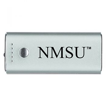 New Mexico State-Portable Cell Phone 5200 mAh Power Bank Charger -Silver