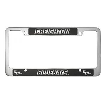 Creighton University -Metal License Plate Frame-Black