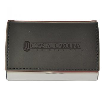 Velour Business Cardholder-Coastal Carolina University-Black