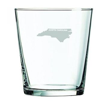 13 oz Cocktail Glass - North Carolina State Outline - North Carolina State Outline