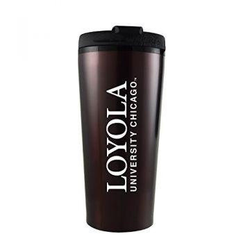 Loyola University Chicago -16 oz. Travel Mug Tumbler-Burgundy