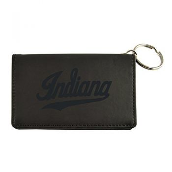 Velour ID Holder-Indiana University-Black