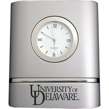 University of Delaware- Two-Toned Desk Clock -Silver