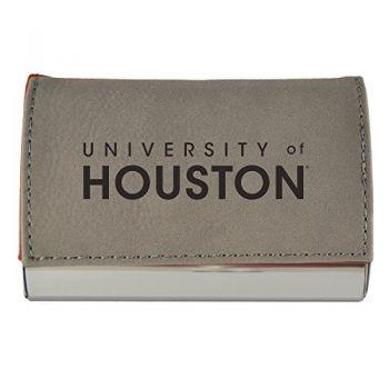 Velour Business Cardholder-University of Houston-Grey