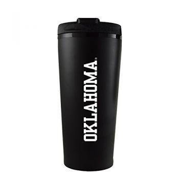 University of Oklahoma-16 oz. Travel Mug Tumbler-Black