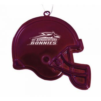 St. Bonaventure University - Christmas Holiday Football Helmet Ornament - Burgundy