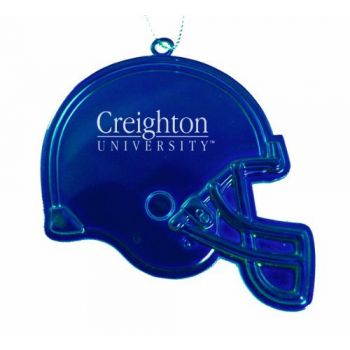 Creighton University - Christmas Holiday Football Helmet Ornament - Blue