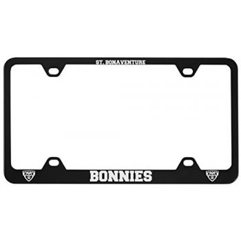 St. Bonaventure Bonnies -Metal License Plate Frame-Black