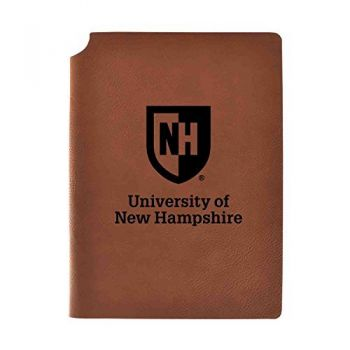 University of New Hampshire Velour Journal with Pen Holder|Carbon Etched|Officially Licensed Collegiate Journal|