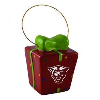 Georgia State University-3D Ceramic Gift Box Ornament
