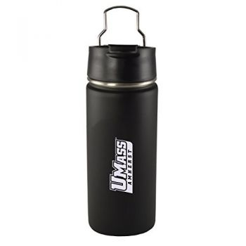 University of Massachusetts, Amherst-20 oz. Travel Tumbler-Black