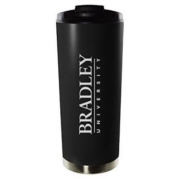 Bradley University-16oz. Stainless Steel Vacuum Insulated Travel Mug Tumbler-Black