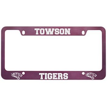 Towson University -Metal License Plate Frame-Pink