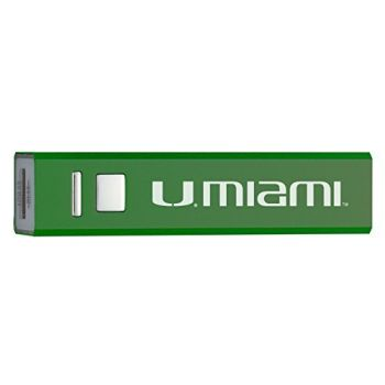 University of Miami - Portable Cell Phone 2600 mAh Power Bank Charger - Green