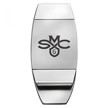 Saint Mary's College of California - Two-Toned Money Clip - Silver