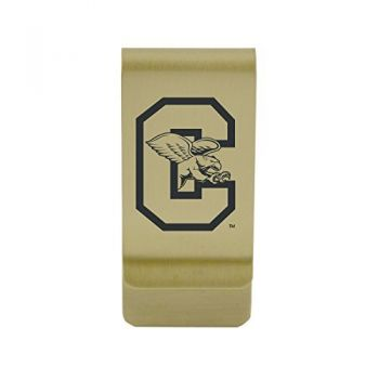 California State Univeristy Fullerton |Money Clip with Contemporary Metals Finish|Solid Brass|High Tension Clip to Securely Hold Cash, Cards and ID's|Silver