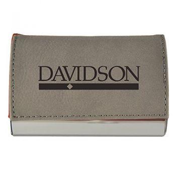 Velour Business Cardholder-Davidson College-Grey