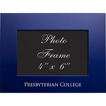 Presbyterian College - 4x6 Brushed Metal Picture Frame - Blue