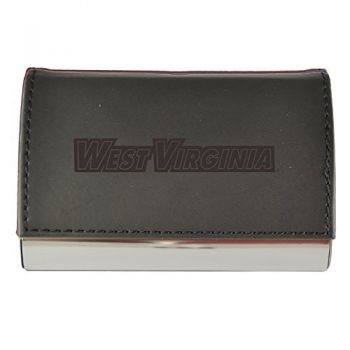 Velour Business Cardholder-West Virginia University -Black