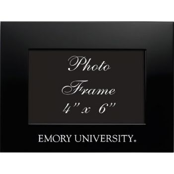 Emory University - 4x6 Brushed Metal Picture Frame - Black