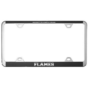 University of Illinois at Chicago-Metal License Plate Frame-Black