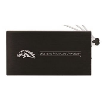 8000 mAh Portable Cell Phone Charger-Western Michigan University-Black