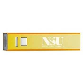 Norfolk State University - Portable Cell Phone 2600 mAh Power Bank Charger - Gold