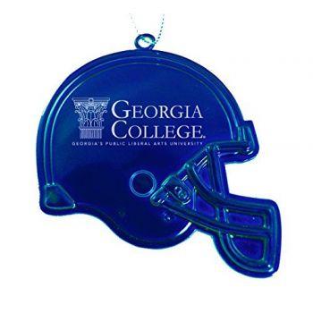 Georgia College & State University - Christmas Holiday Football Helmet Ornament - Blue
