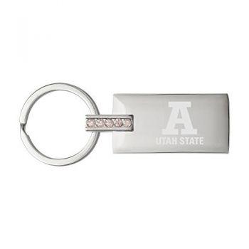 Utah State University-Jeweled Key Tag