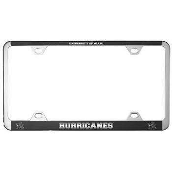 University of Miami -Metal License Plate Frame-Black