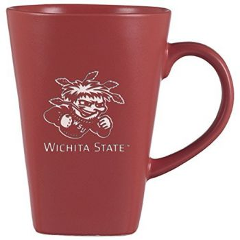 Wichita State University -14 oz. Ceramic Coffee Mug-Pink