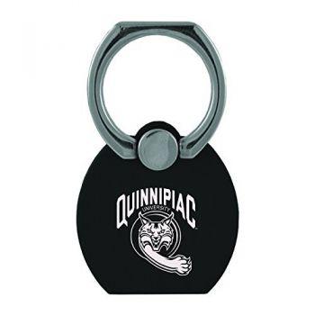 Quinnipiac University|Multi-Functional Phone Stand Tech Ring|Black