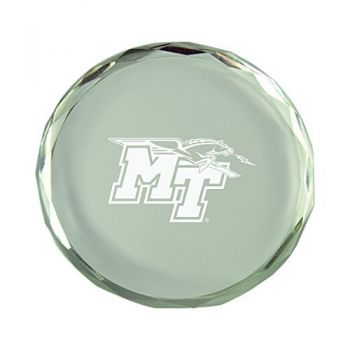 Middle Tennessee State University-Crystal Paper Weight