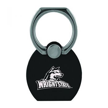 Wright State university|Multi-Functional Phone Stand Tech Ring|Black