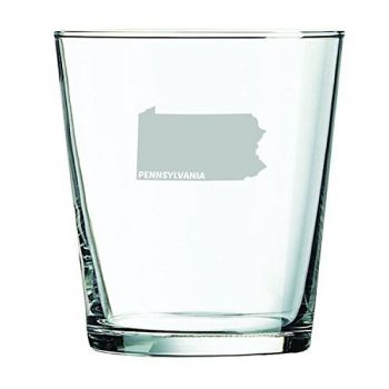 13 oz Cocktail Glass - Pennsylvania State Outline - Pennsylvania State Outline