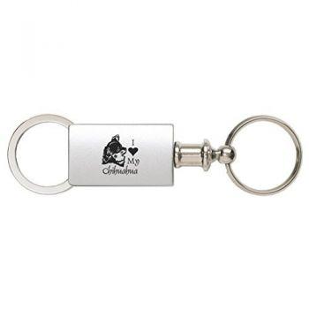 Detachable Valet Keychain Fob  - I Love My Chihuahua