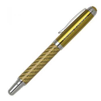 University of Delaware - Carbon Fiber Rollerball Pen - Gold
