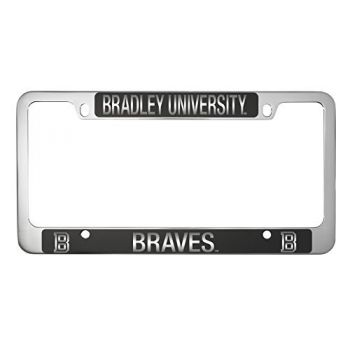 Bradley University -Metal License Plate Frame-Black