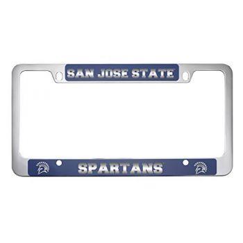 San Jose State University -Metal License Plate Frame-Blue