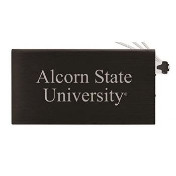 8000 mAh Portable Cell Phone Charger-Alcorn State University -Black