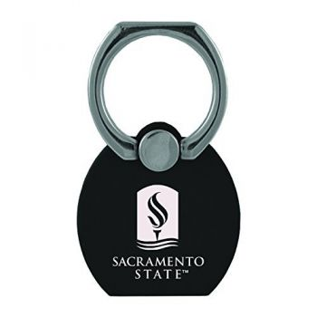 California State University|Multi-Functional Phone Stand Tech Ring|Black
