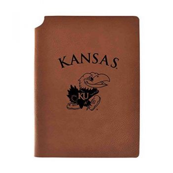 The University of Kansas Velour Journal with Pen Holder|Carbon Etched|Officially Licensed Collegiate Journal|