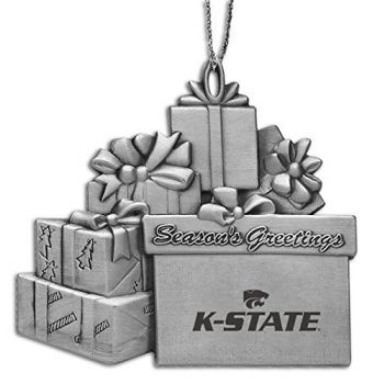 Kansas State Univsity - Pewter Gift Package Ornament