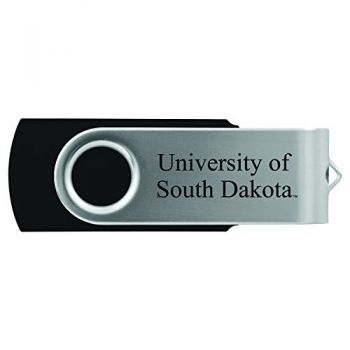 University of South Dakota -8GB 2.0 USB Flash Drive-Black